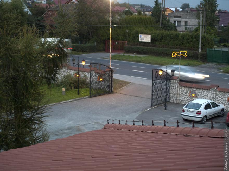 Вид из окна гостиницы под Краковым